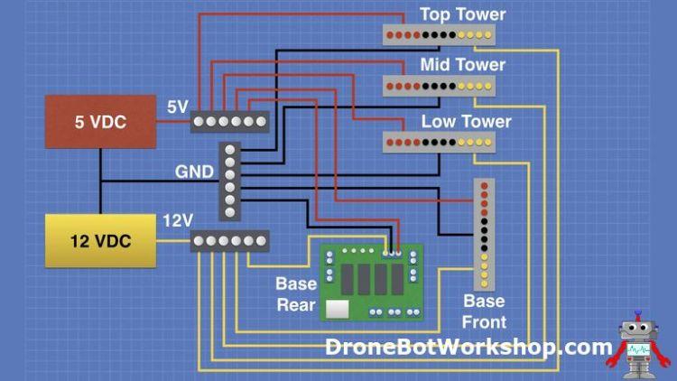 Power Distribution Tower Schematic