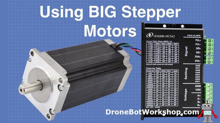 Using BIG Stepper Motors with Arduino