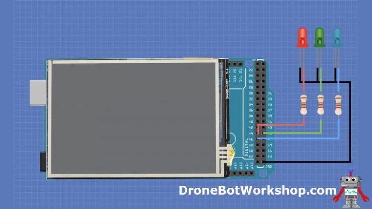 Arduino Mega touchscreen hookup