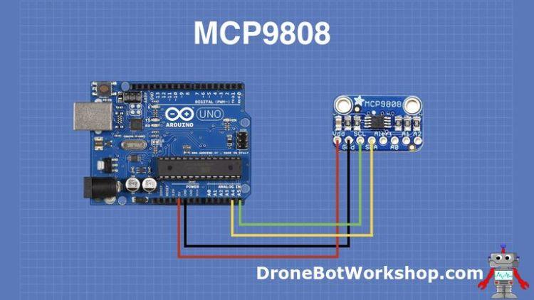 MCP9808 Arduino Hookup