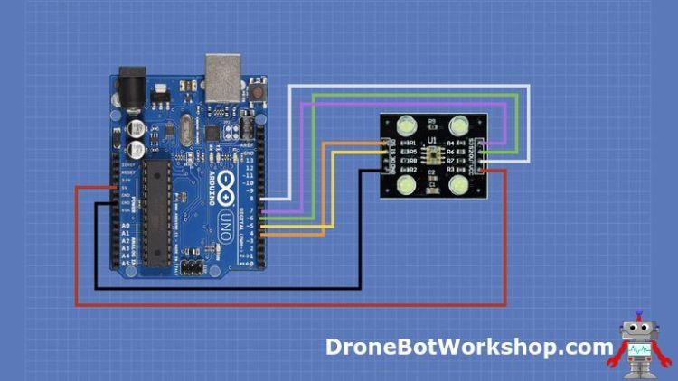TCS230 Arduino Hookup