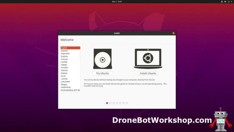 Ubuntu begin installation