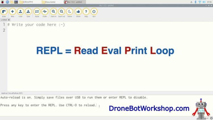 MU Editor REPL Window
