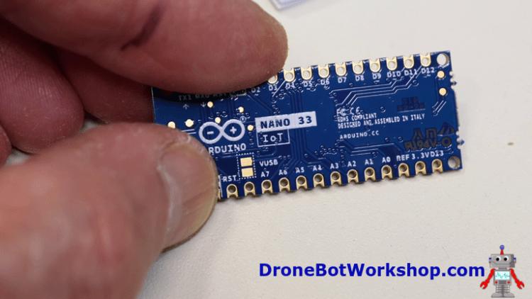 Arduino Nano 33 IoT VUSB Jumper Pads