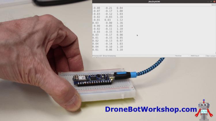 Arduino Nano 33 IoT Accelerometer Demo 1