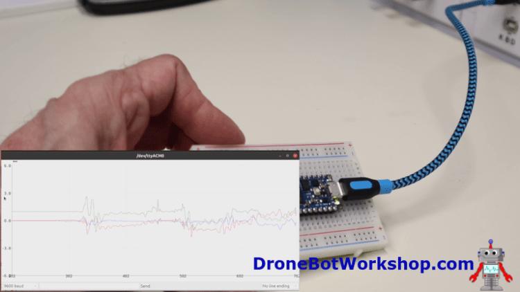 Arduino Nano 33 IoT Accelerometer Demo 2