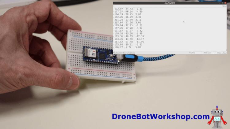Arduino Nano 33 IoT Gyroscope Demo 1