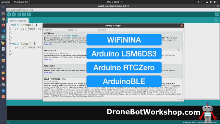 Arduino Nano 33 IoT Libraries