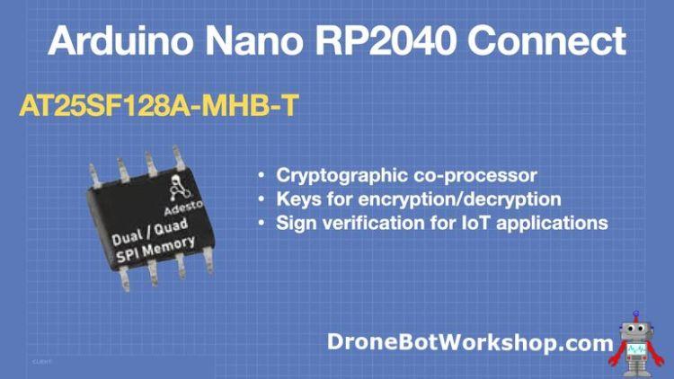 Arduino Nano RP2040 Connect - Crypto Coprocessor