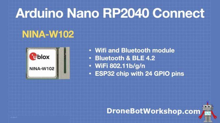 Arduino Nano RP2040 Connect - WiFi & Bluetooth Module