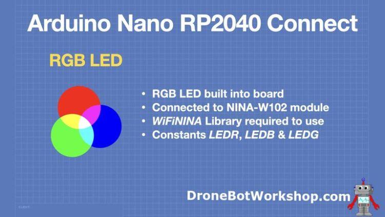 Arduino Nano RP2040 Connect - RGB LED