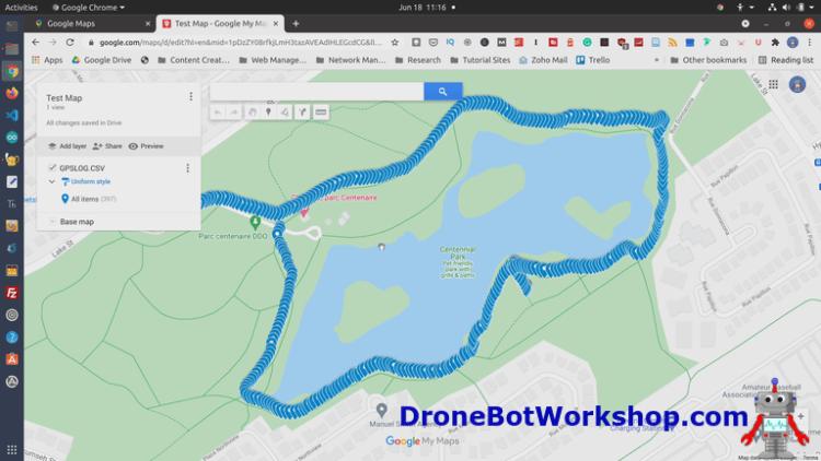 GPS Log in Google Maps