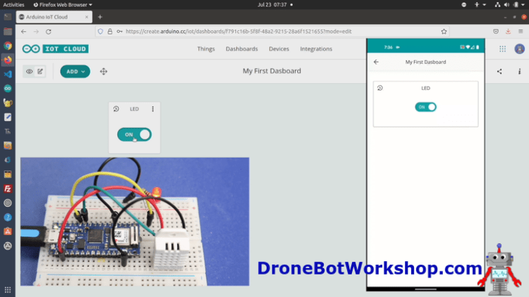 Arduino IoT Cloud Dashboard with Mobile