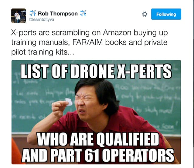 Image of Twitter post Drone X-Perts