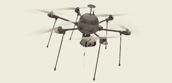 photo of CyPhy PARC tethered drone