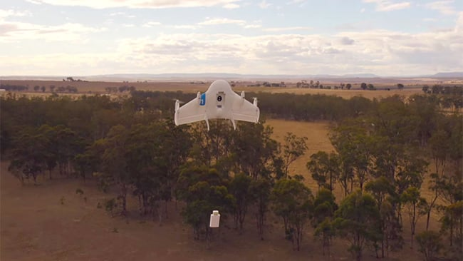 Project Wing test flight In the Outback