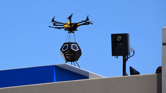 Nokia demos wireless small cells installed by drone