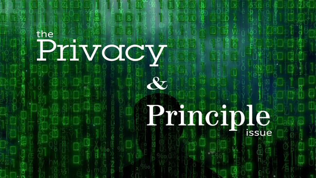 The 'Privacy and Principle' issue of Dronin' On 10.27.18