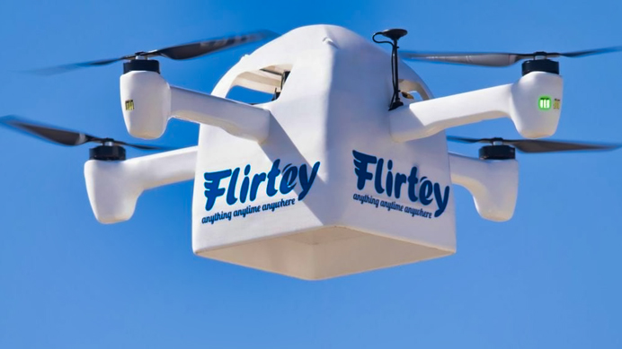 Flirtey Part 135 UAS IPP delivery