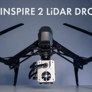 DJI Inspire 2 LiDAR Drone - ROCK R1A
