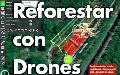 Claves para la reforestación con  drones