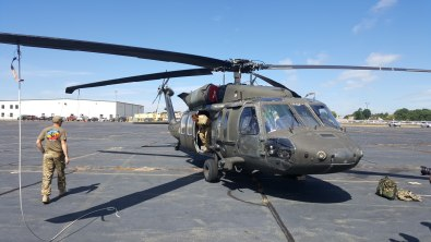 Black Hawk helicopter struck by drone over Staten Island NY 1
