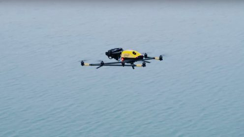 Intel's Falcon 8+ drone observes polar bears in the Arctic