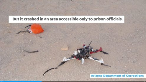 Drone delivering phones and drugs crashes inside Buckeye prison yard0004