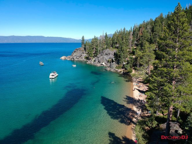 Photo of Lake Tahoe taken with the DJI Spark and edited in Lightroom