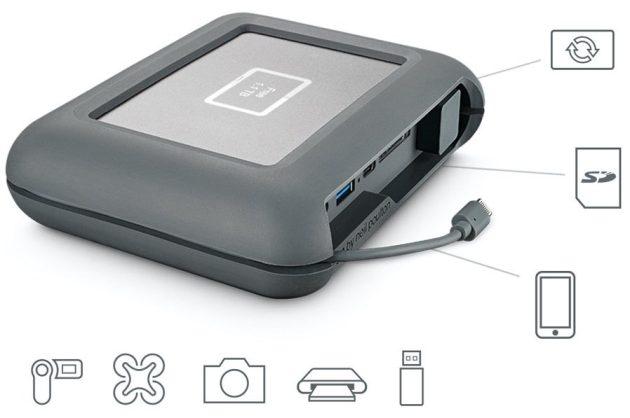 Seagate introduces LaCie 2TB DJI CoPilot portable harddrive at CES 2018 0005