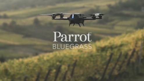 Press Release: Parrot unveils Parrot Bluegrass at the Commercial UAV Expo!