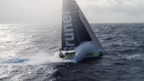 Watch this crew fly and catch a drone from a sailing Volvo Ocean Race yacht [video] 0002