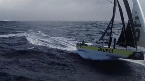 Watch this crew fly and catch a drone from a sailing Volvo Ocean Race yacht [video] 0003