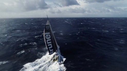 Watch this crew fly and catch a drone from a sailing Volvo Ocean Race yacht [video] 0005
