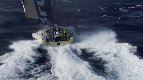 Watch this crew fly and catch a drone from a sailing Volvo Ocean Race yacht [video] 0010