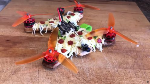 Pizza delivered by pizza-drone 3