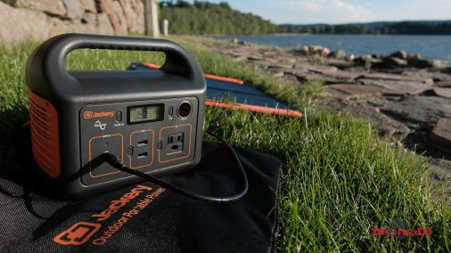 DroneDJ review of the Jackery 240W Battery Charger and Solar Panel 0012