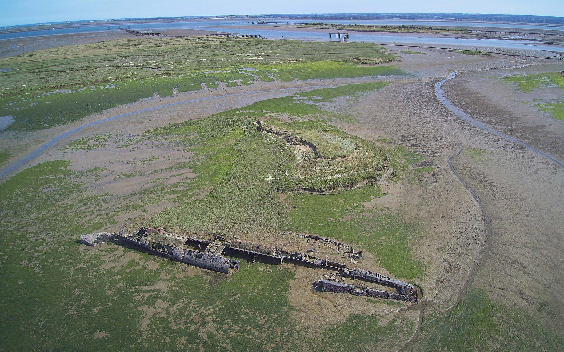 How did the German U-boat end up in the marshes of Kent ?