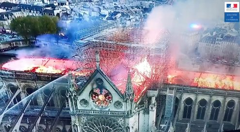 DJI drones helped firefighters to put out Notre Dame inferno