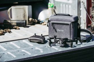 Life style shot of the ANAFI Thermal drone