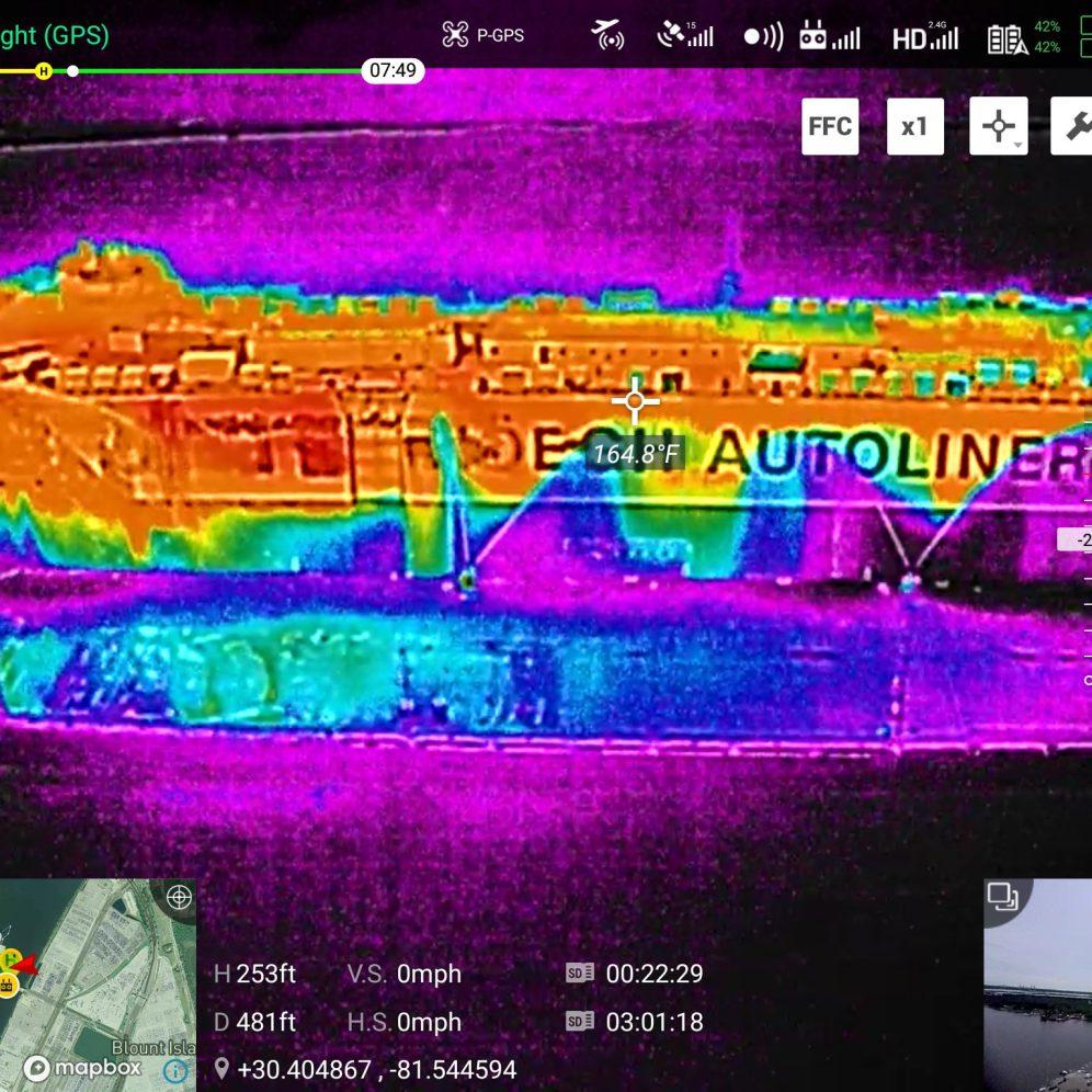 drone thermal camera fire dji