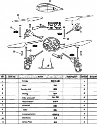 Parts List V959 Quadcopter (click 2X to enlarge fully)