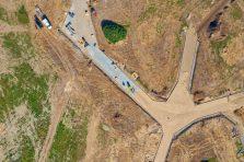 Byggeplads dokumentation fra drone