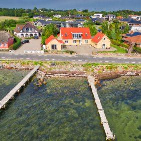 Drone foto fra vandet