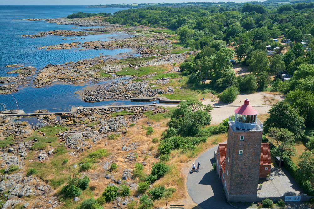Dronefoto fra Svaneke på Bornholm
