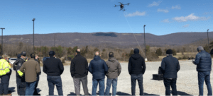 tethered drone to catch a drone cUAS