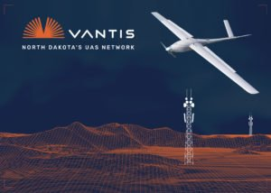 A logo for the Vantis drone network