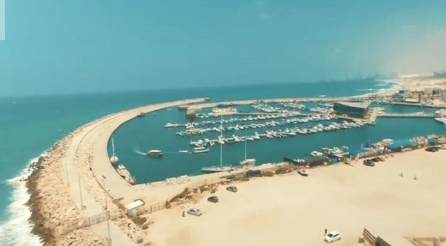 This is a photo from the drone photography bible review of the parrot bebop 1.0. The photo was taken in israel and is of a marina with many boats