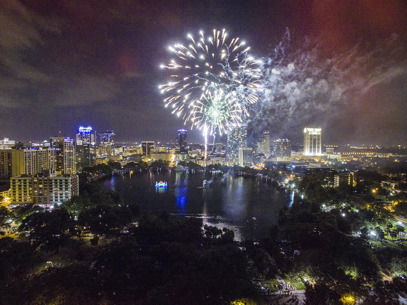 Fireworks Eola Lake Park