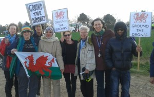 Campaigners from Cardiff with Helen John